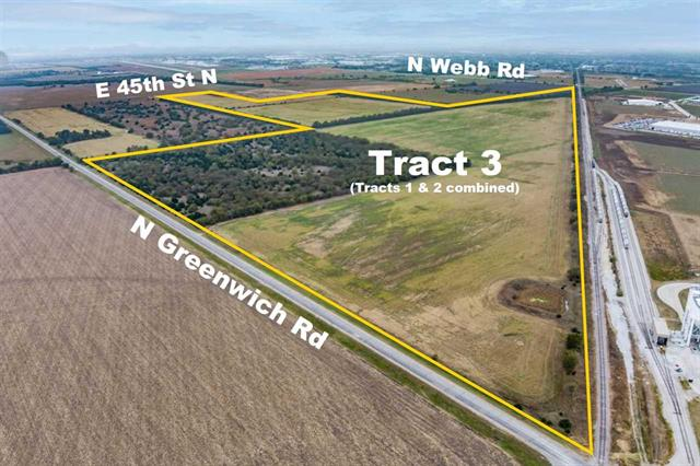 For Sale: S & W of E 53rd St N and Greenwich Rd – Tract 3, Bel Aire KS