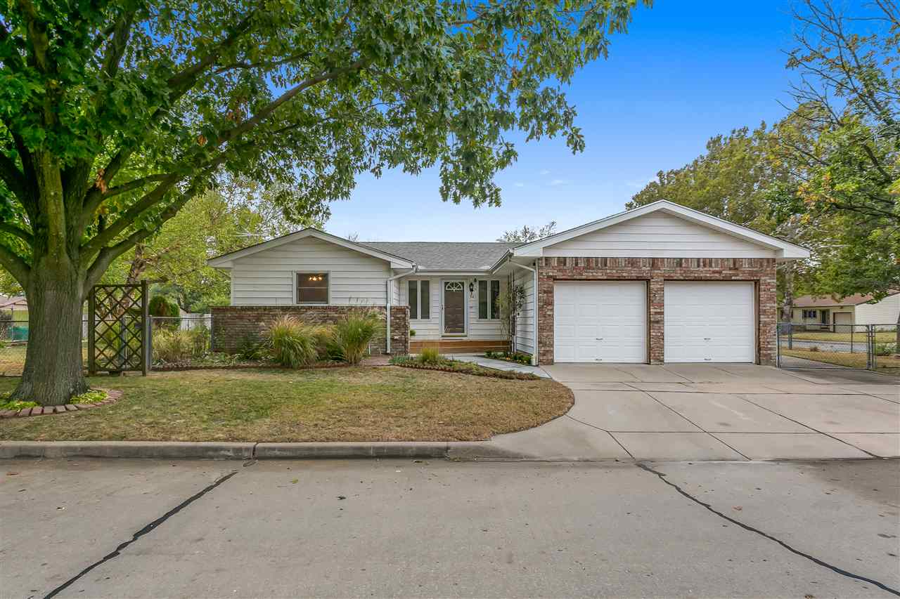 Adorable updated ranch now for sale! 3 bedroom, 1 1/2 bath, office, insulated 2 car garage, finished