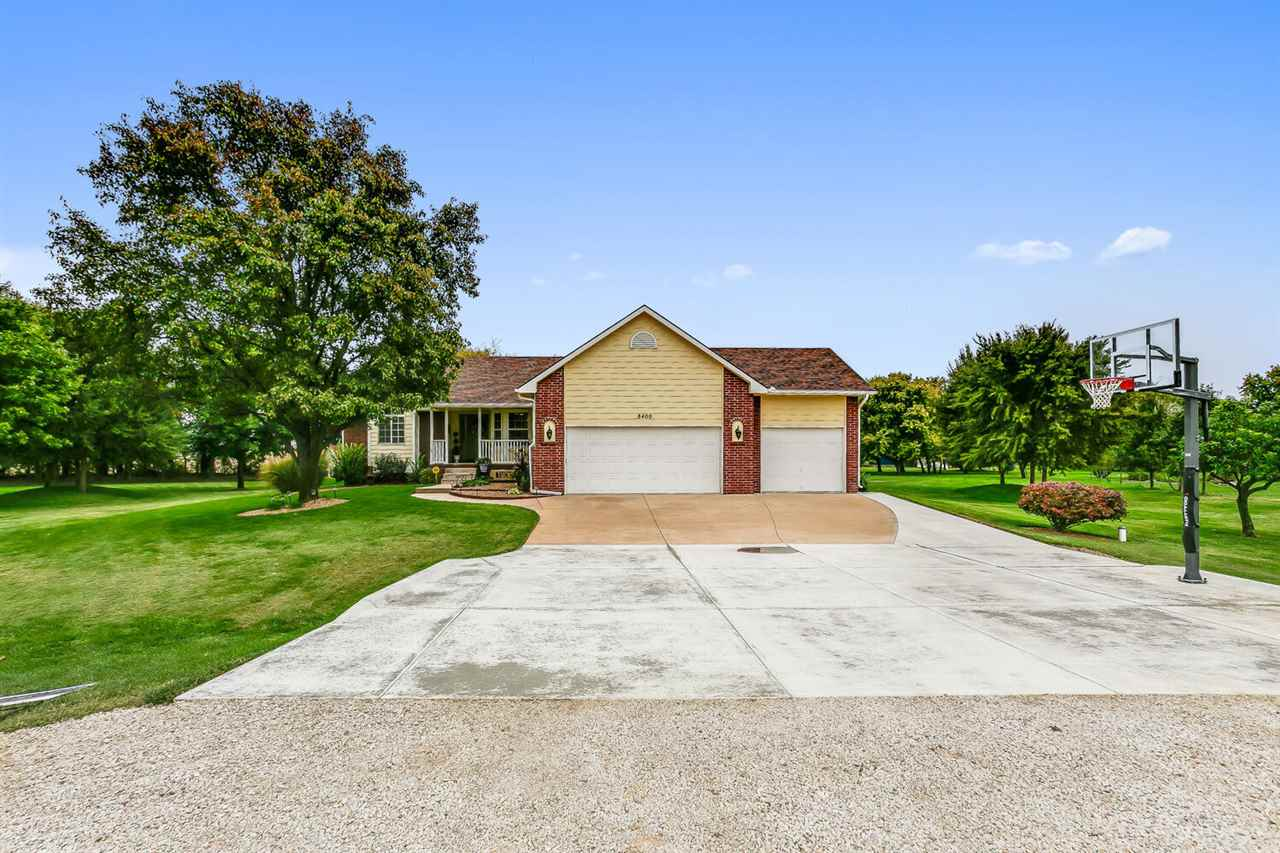 Beautiful Open 1.6 acre lot at the end of a Tree lined, Cul-de-Sac Lot.  Home painted in 2017, New Heated, In-Ground Pool with built in steps across the shallow end for lounging in 2015, Auto Cover and pump new in 2020 and new salt cell in 2019.  April 2020 new lateral lines and tank for the septic system.  No water bills!  Shed and dog kennel. House has been nicely updated.  Solid Surface countertops in the kitchen and bathrooms.  Full Finished view-out Basement.