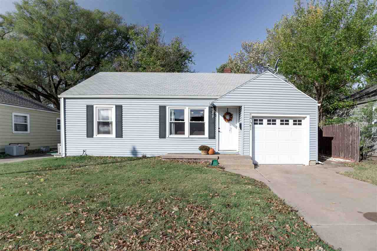 This adorable house 3 BR, 2 Ba house is updated with vinyl windows, White trim and cabinets, stainle
