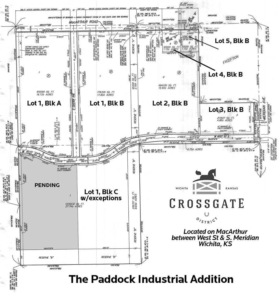 Lot 1 Block C Macarthur, Wichita, KS, 67217