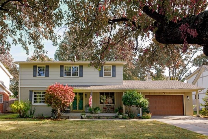 Don't miss this incredible home in the highly desirable Rockwood neighborhood. This home is located on a quiet street with a large yard that's shaded by mature trees in front and back. The recently remodeled interior features an open floor plan, highlighted by a huge kitchen with new cabinetry, dazzling quartz countertops, fingerprint-resistant stainless steel appliances, adjacent pantry and a spacious nearby dining room. All four bedrooms are located on the second floor, including a magnificent master suite with a large, fully tiled walk-in shower, double vanity and walk-in closet. The guest bathroom upstairs also includes a double vanity and tiled tub / shower. The finished basement contains a family room, full bathroom, and two guest / bonus rooms. Outside, the fenced backyard also has a covered patio and a new swing set. Other notable features of the home include oversized windows that provide abundant natural light, a main floor office, main floor laundry in the mud room, LED lighting throughout, and the nearby Rockwood neighborhood swimming pool. A home like this is a rare find on the market, so don't wait—it will sell quickly! Area pool requires additional membership.  Exclusions include curtains and rods, blinds and shades remain.  Seller is licensed to sell real estate in the State of Kansas.