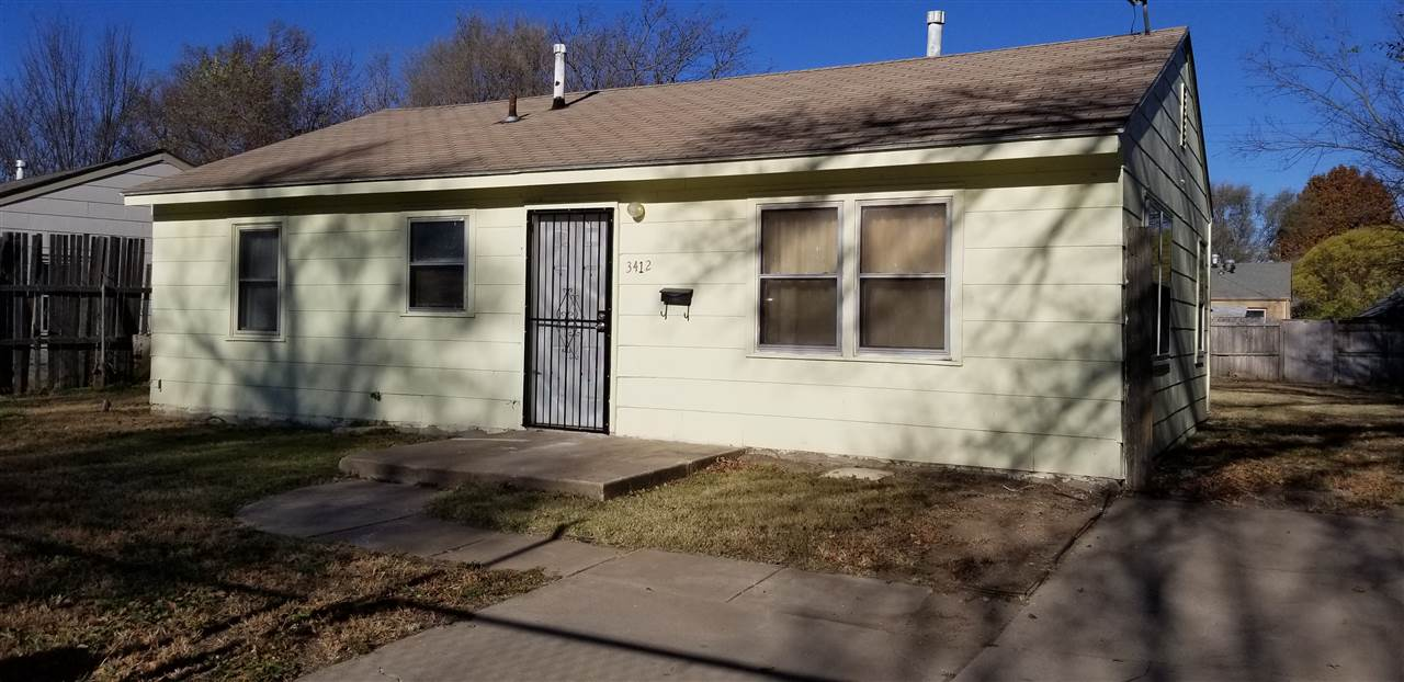 Great as a starter home or as an investment property. Features 3 bedrooms, 1 bath, all fenced in yar