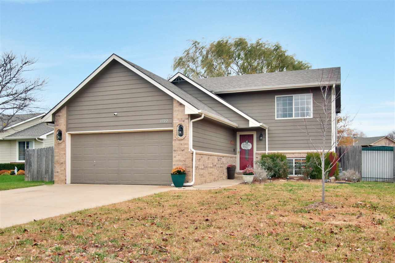 Welcome home!  Located in the desirable Goddard school district. This home features 3 bedroom, two b