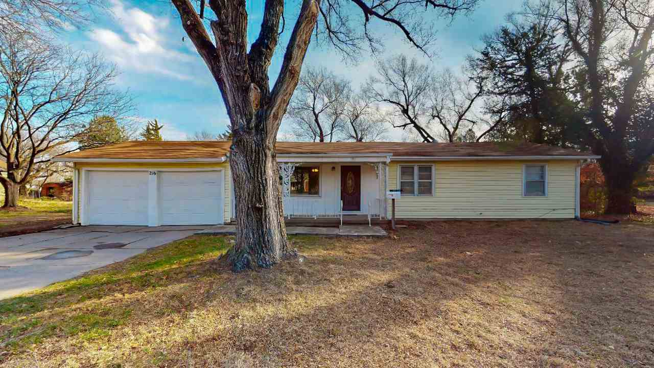 Acreage you do not find just anywhere in the City!  Located in west Wichita the home has 3 bedrooms,