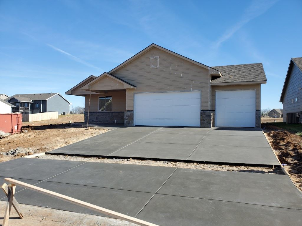 Patio home with granite countertops, updated HVAC system, hardy board siding and upgraded windows, storm shelter, low special taxes. Home will be ready late Feb/early March.