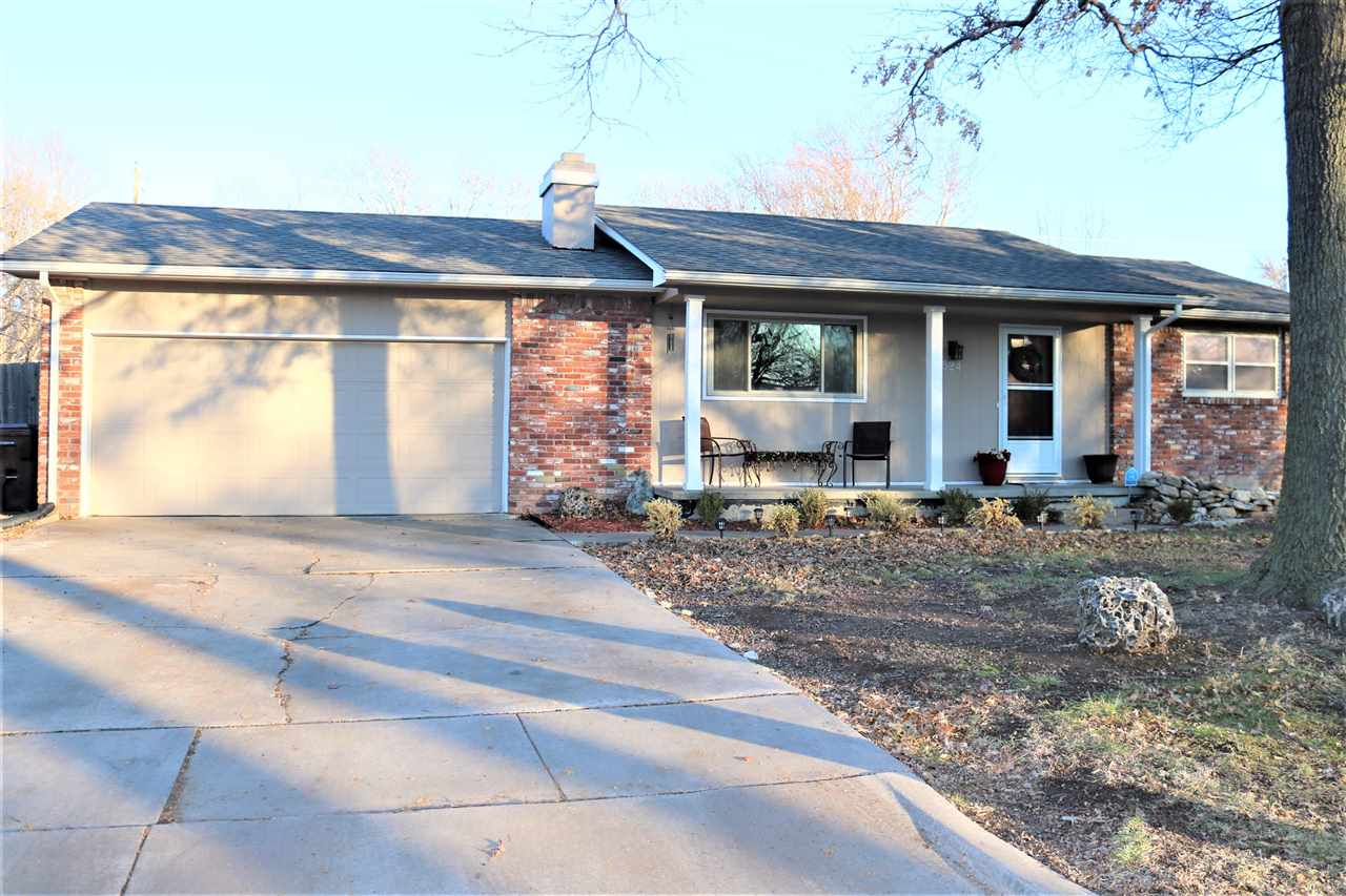 This beautiful 3 bedroom home flows perfectly with wood laminate flooring in the main living areas, freshly painted interior and granite countertops in the kitchen is your new home! A huge fenced in backyard with a brand new deck is just waiting for spring weather. Located just minutes from Sedgwick County Park and next to I-235, you're just a short trip away from fun anytime!