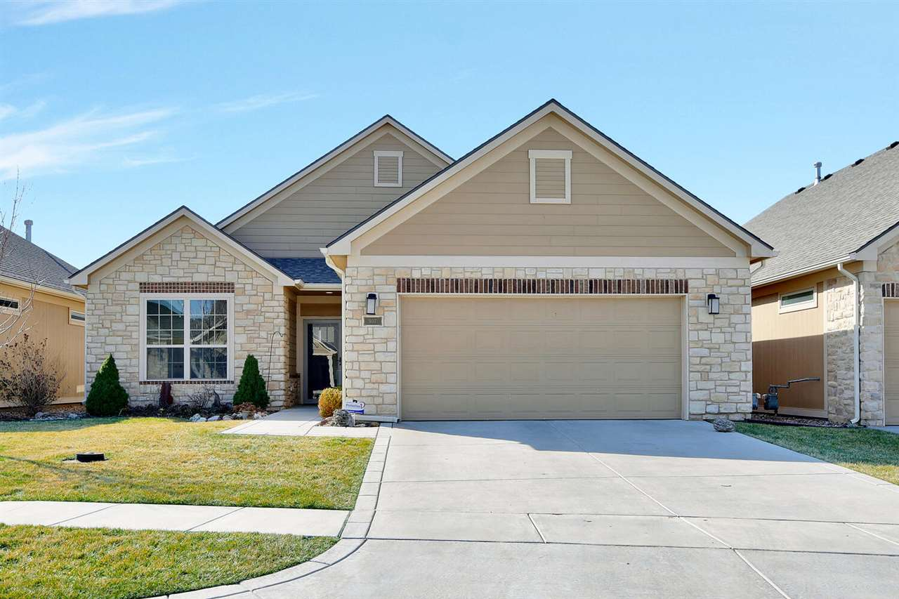 Spacious zero entry patio home, located in Derby, and close to retail.  This home has a private part