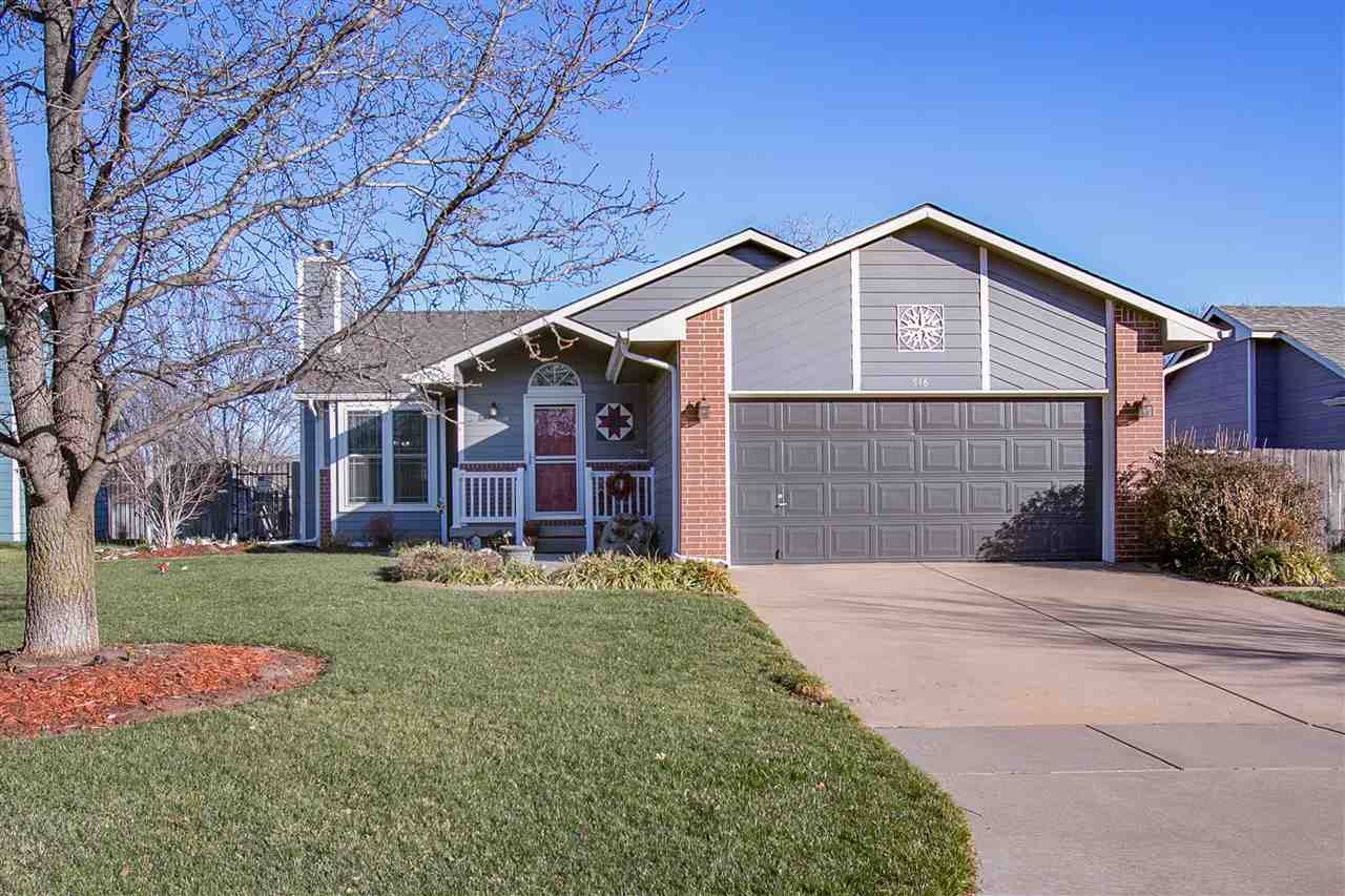 This house has lots to offer! **West side home in GODDARD schools.  **Kitchen has GRANITE counter to