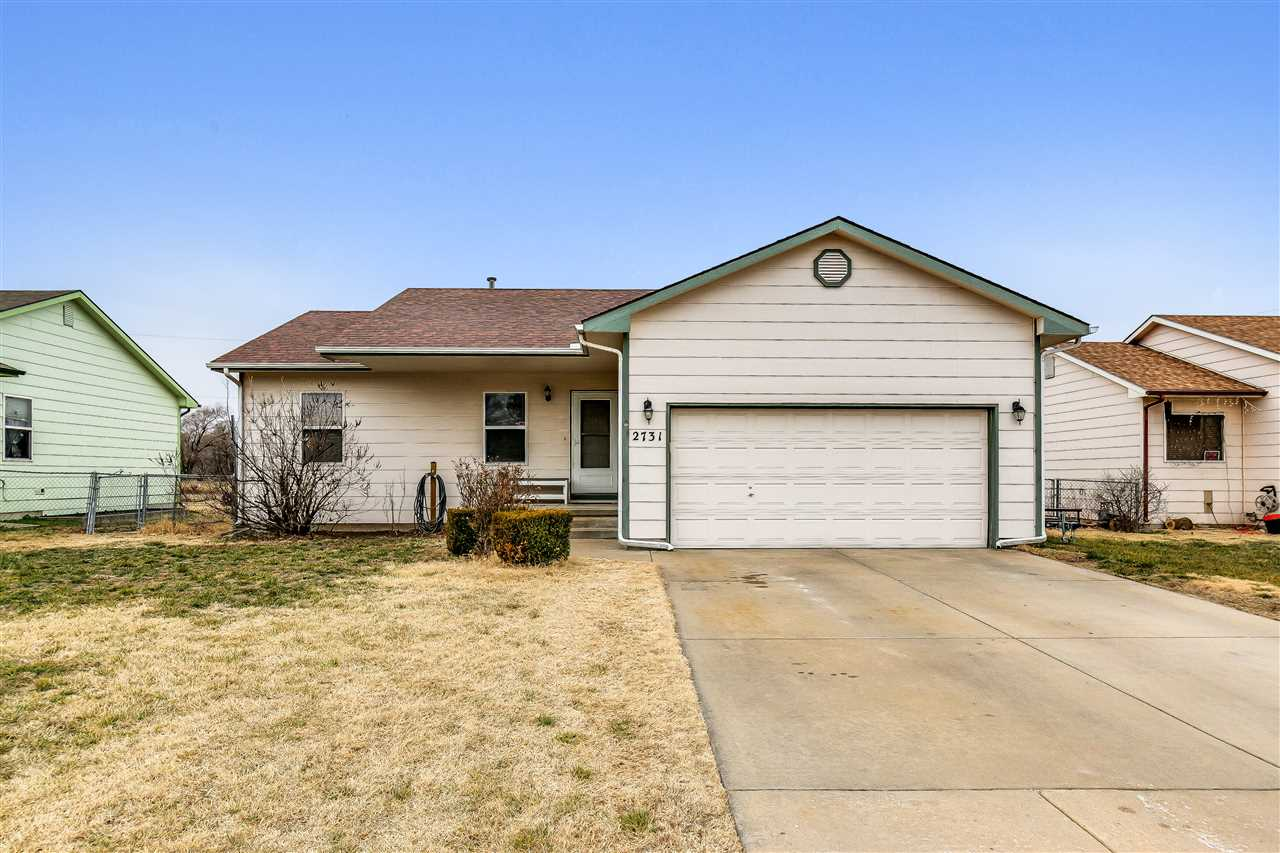 Close access to K-96 and Wichita State University campus. 4 bedroom, 1 bath home with attached 2 car