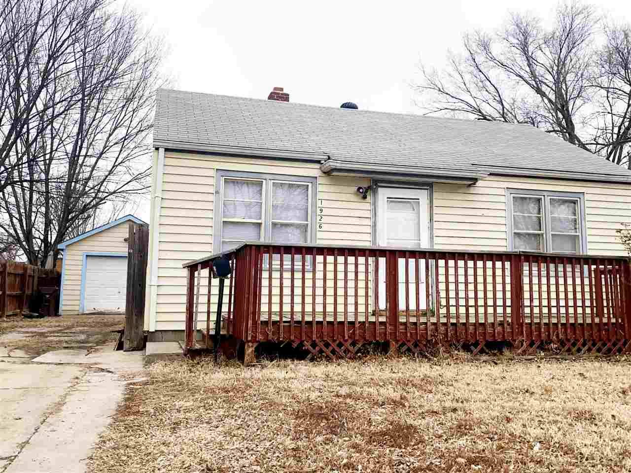Great investment property or fixer upper with tons of potential.  This home sits on a nice sized lot