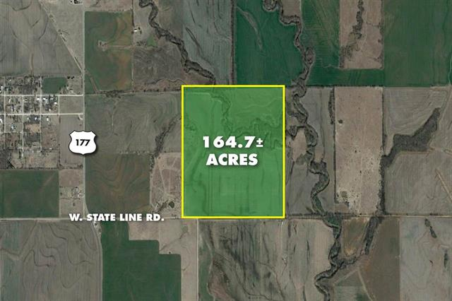 For Sale: 164.7 +/- Acres  W. State Line Rd., South Haven KS
