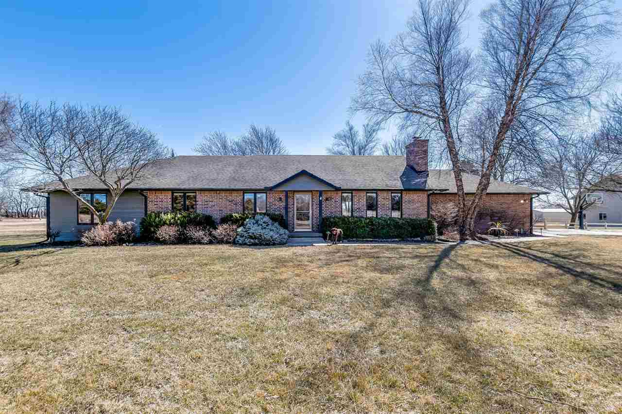 Updated and meticulously maintained ranch home on nearly 10 acres.  Andover Schools.  Sedgwick Count
