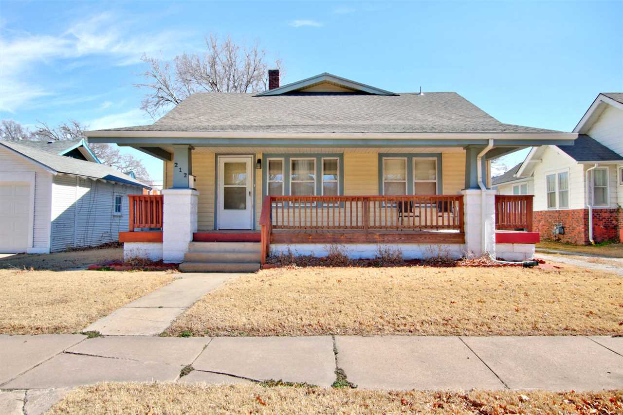 Move in ready residence with 3 bedrooms, basement, 2 car garage, vinyl siding, large front covered porch, backyard has a privacy fence and patio.