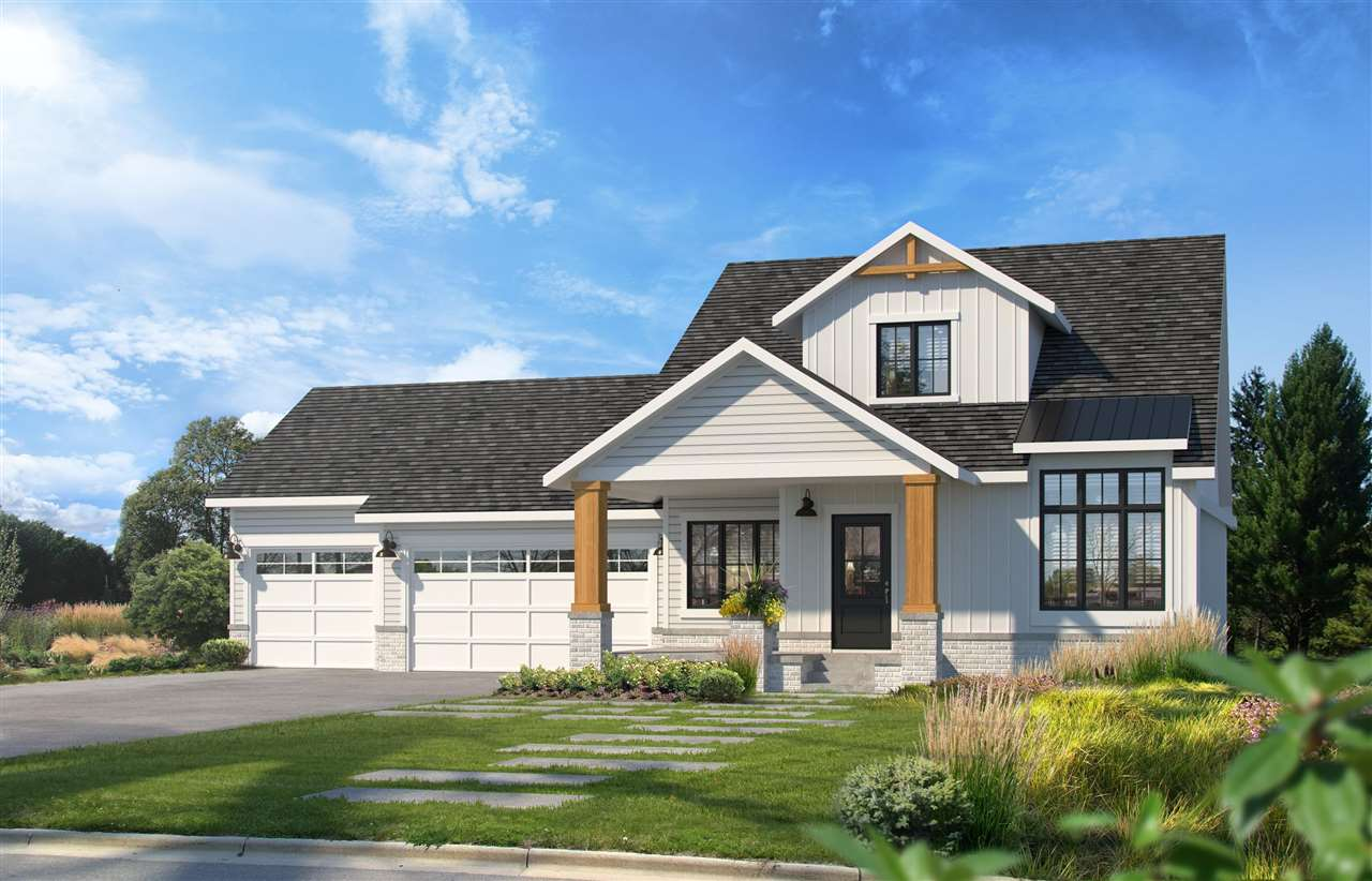 Welcome home to this new custom plan brought to you by Prairie Construction! This unique, story and