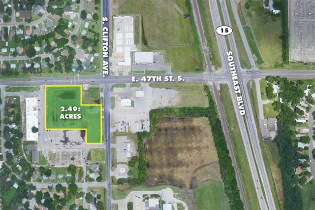 For Sale: 2.49 +/- Acres  47th St. S. & S. Clifton Ave., Wichita KS