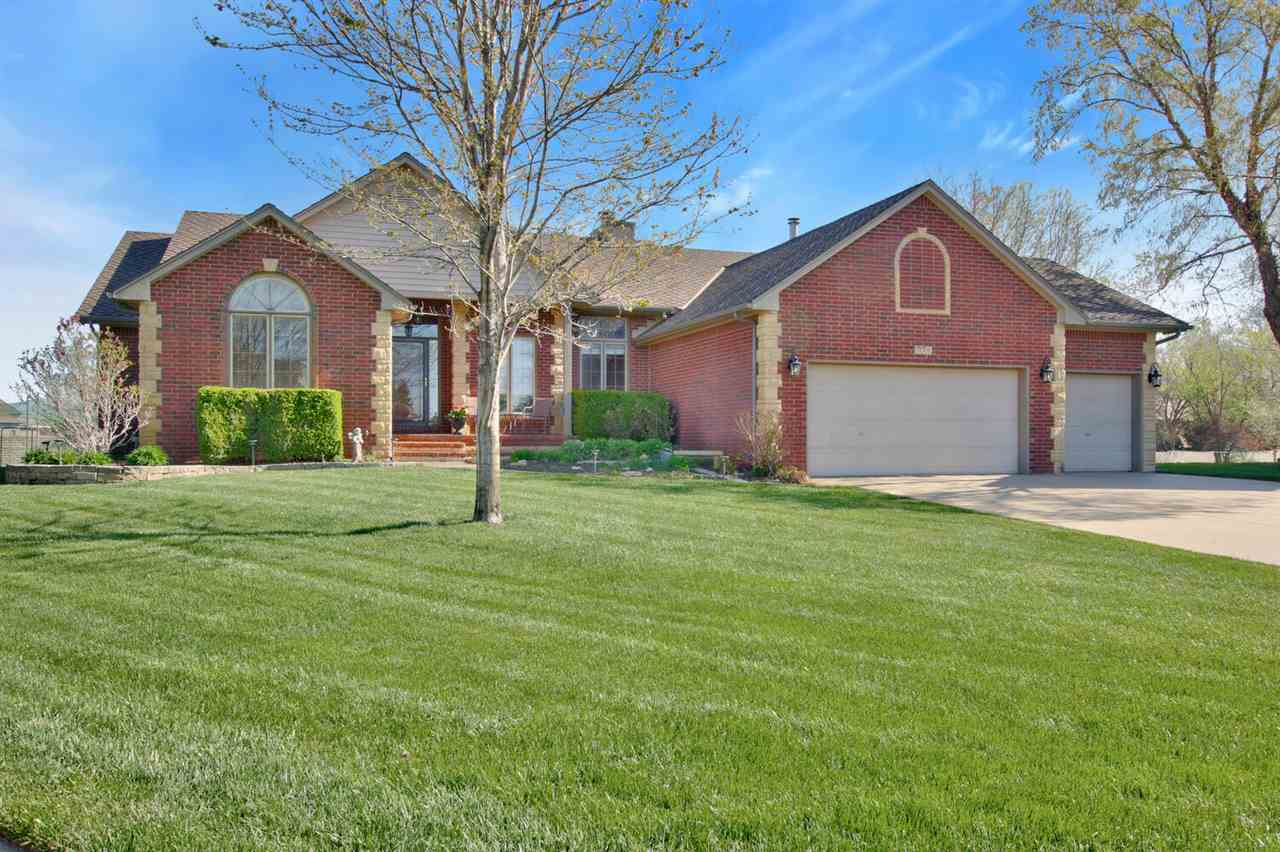 Amazing 5 bedroom, 3 1/2 bath, 3 car garage ranch home in Maize school district, located at the end