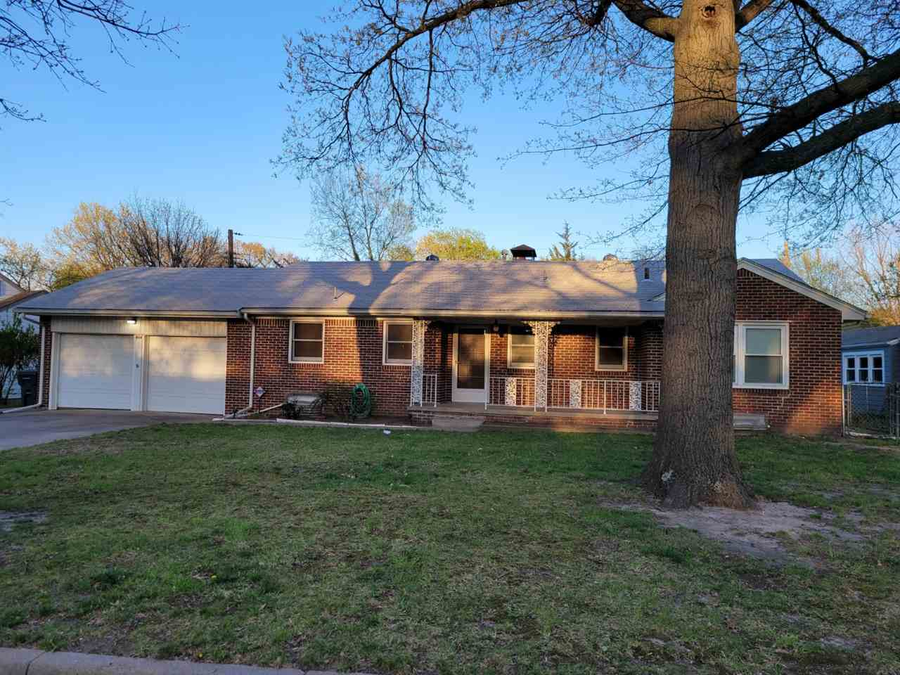 Located in a lovely east Wichita neighborhood. All Brick Ranch, 3 bedroom, large living rm, 1 and 1/