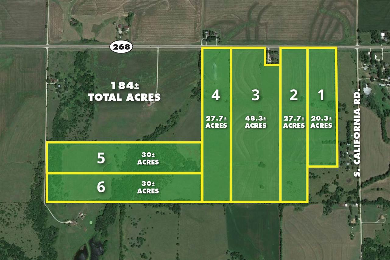 For Sale: 30 +/-  Acres at S. Adams Rd., Lyndon KS