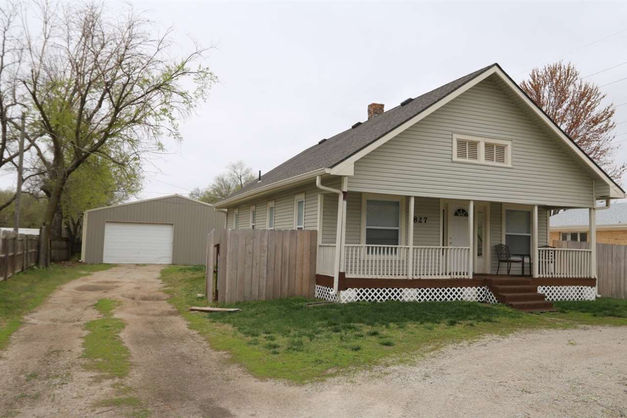Remodeled bungalow with new windows, doors, flooring, paint, and kitchen granite countertops. Electr