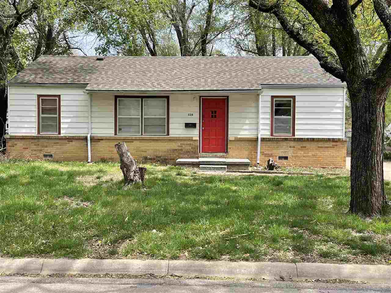 First time homebuyers check it out,  with oversized two car garage with additional parking for rv or