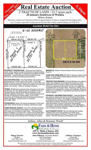 For Sale: 0000 W 140 Ave N, Milton KS