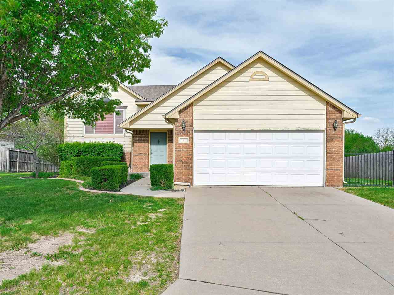 This desirable 4 bedroom, 3 bath, 2 car garage home is in the GODDARD school district and on a cul-d