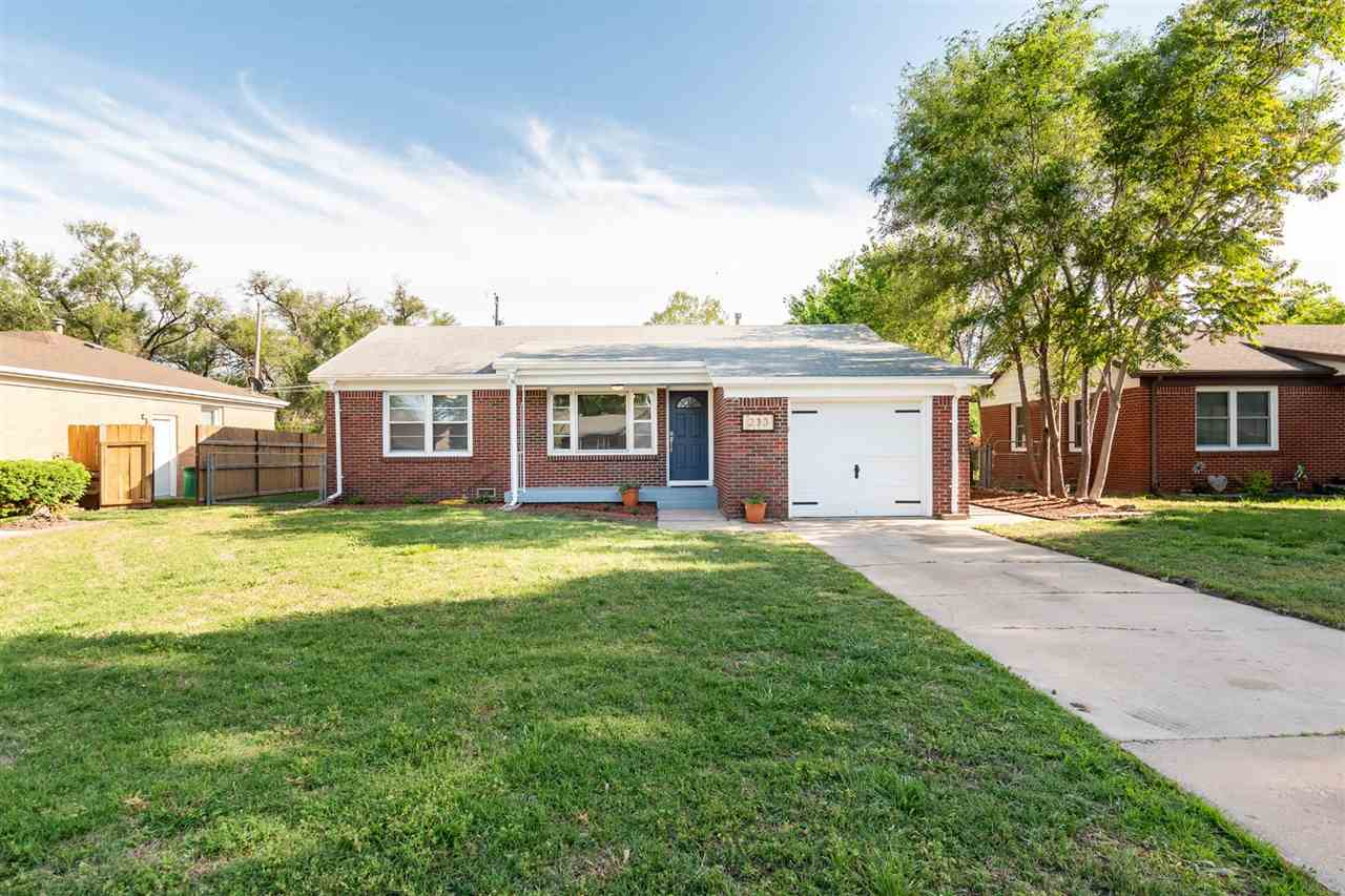 Move in ready 3 bedroom, 1 bath home in Haysville. Home features beautifully refinished hardwood flo
