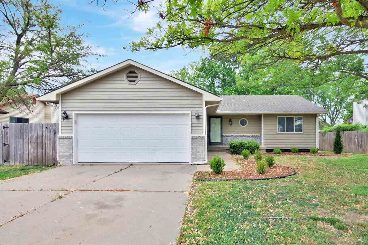 Darling 4 BR, 3 BA ranch in Bel Aire is nicely updated and move-in ready! Enjoy brand new luxury vin