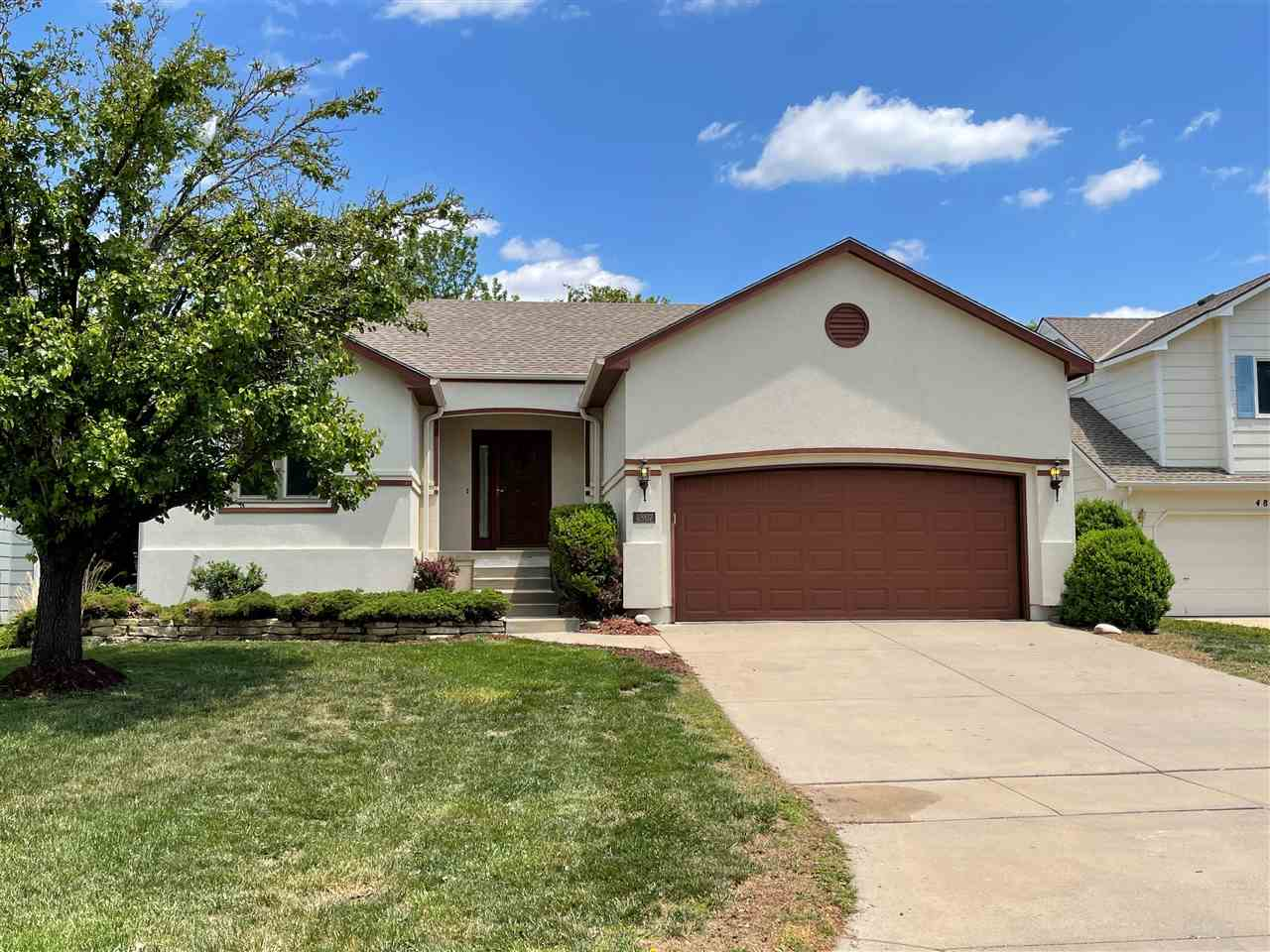 A Move in Ready and Updated ranch home located on a cul-de-sac.  The open living room with vaulted c