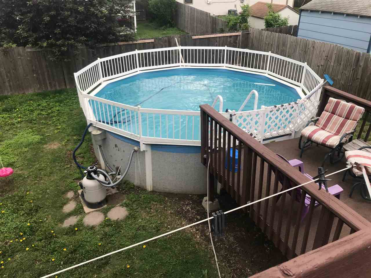 Pool can stay or go if buyer wishes