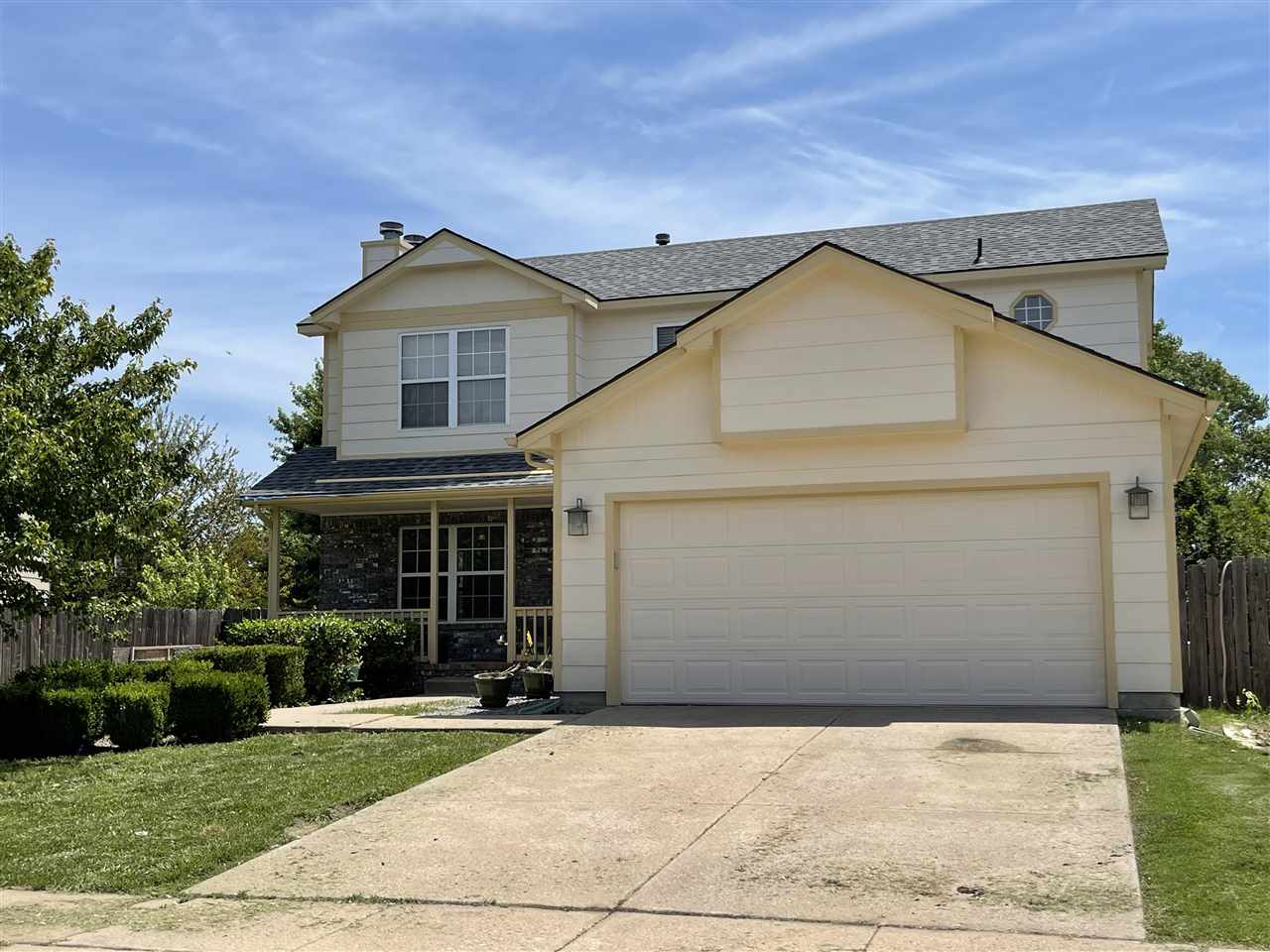 Wichita address... DERBY SCHOOLS This two story, 4 bedroom, 3.5 bath home is ready for new owners to come and make their mark on it!  All information deemed reliable but nit guaranteed. Buyer to independently verify all information.