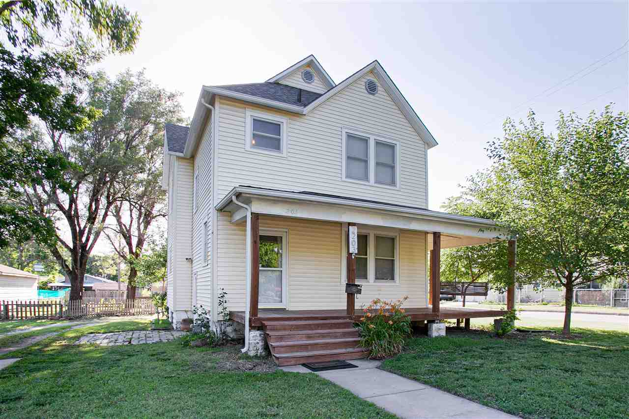 Old style farmhouse in the city! Lots to appreciate in the older home. Original wood floors, seller