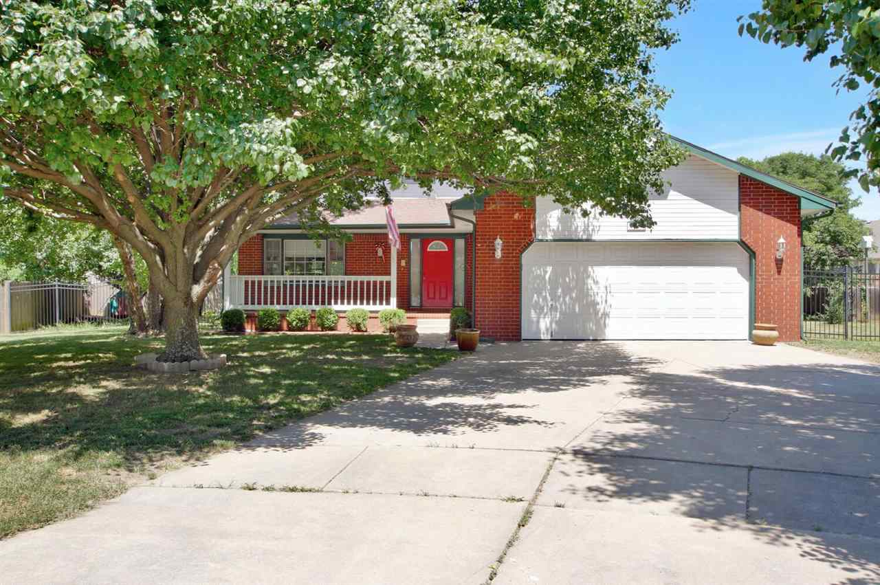 Wonderful 4 bedroom 3.5 bath home tucked away on a quiet cul-de-sac lot in Bel Aire. This home has a