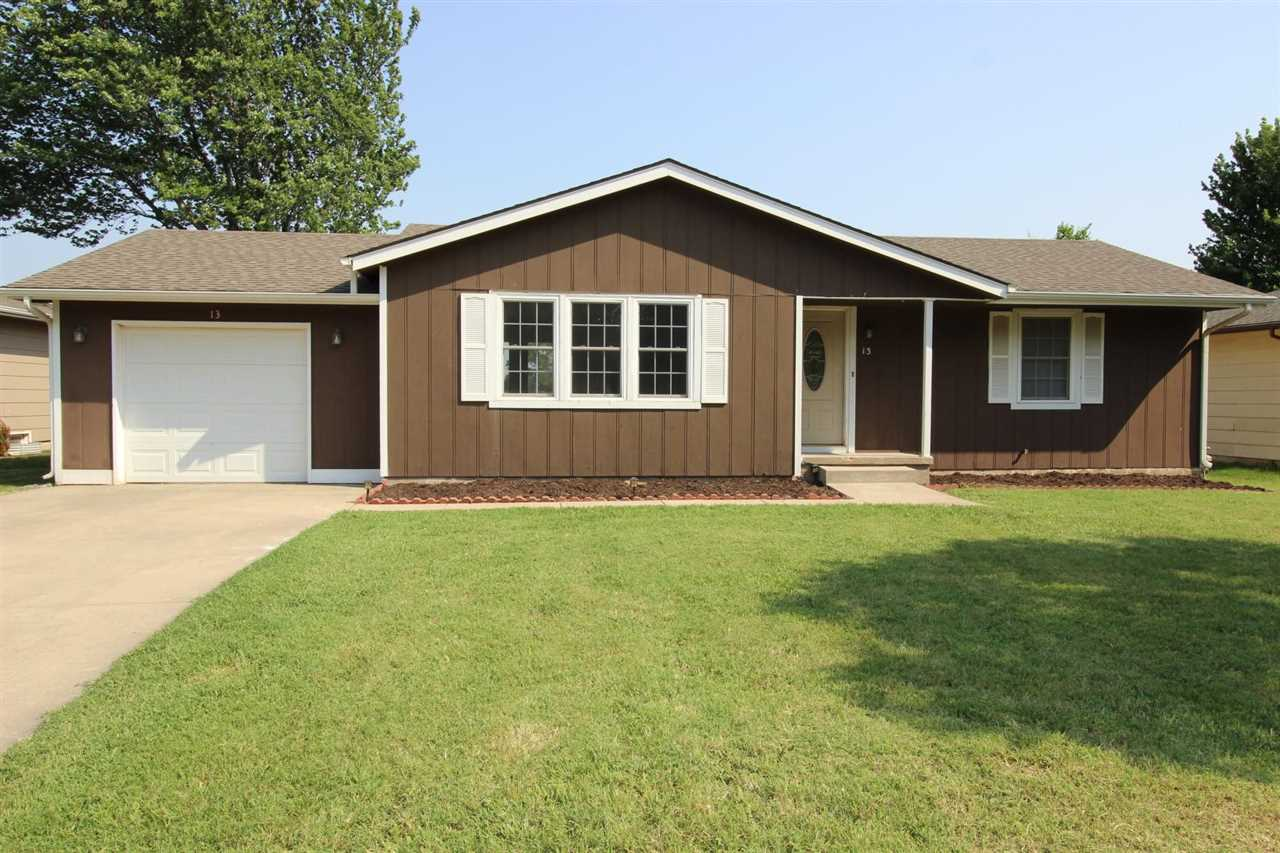 Move in ready ranch style home in Goddard School System with no neighbors behind home. Home features