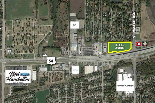 For Sale: 8.43 +/-  Acres at Kellogg & Maize, Wichita KS