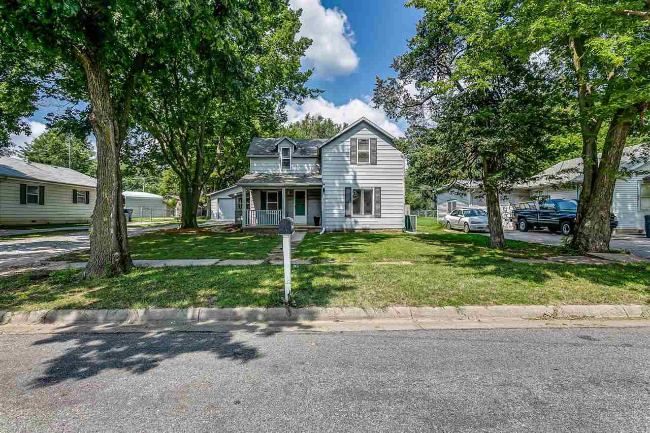 Charming and cozy 2-story gem in Maize!  Main floor master bedroom with connecting main floor bathro