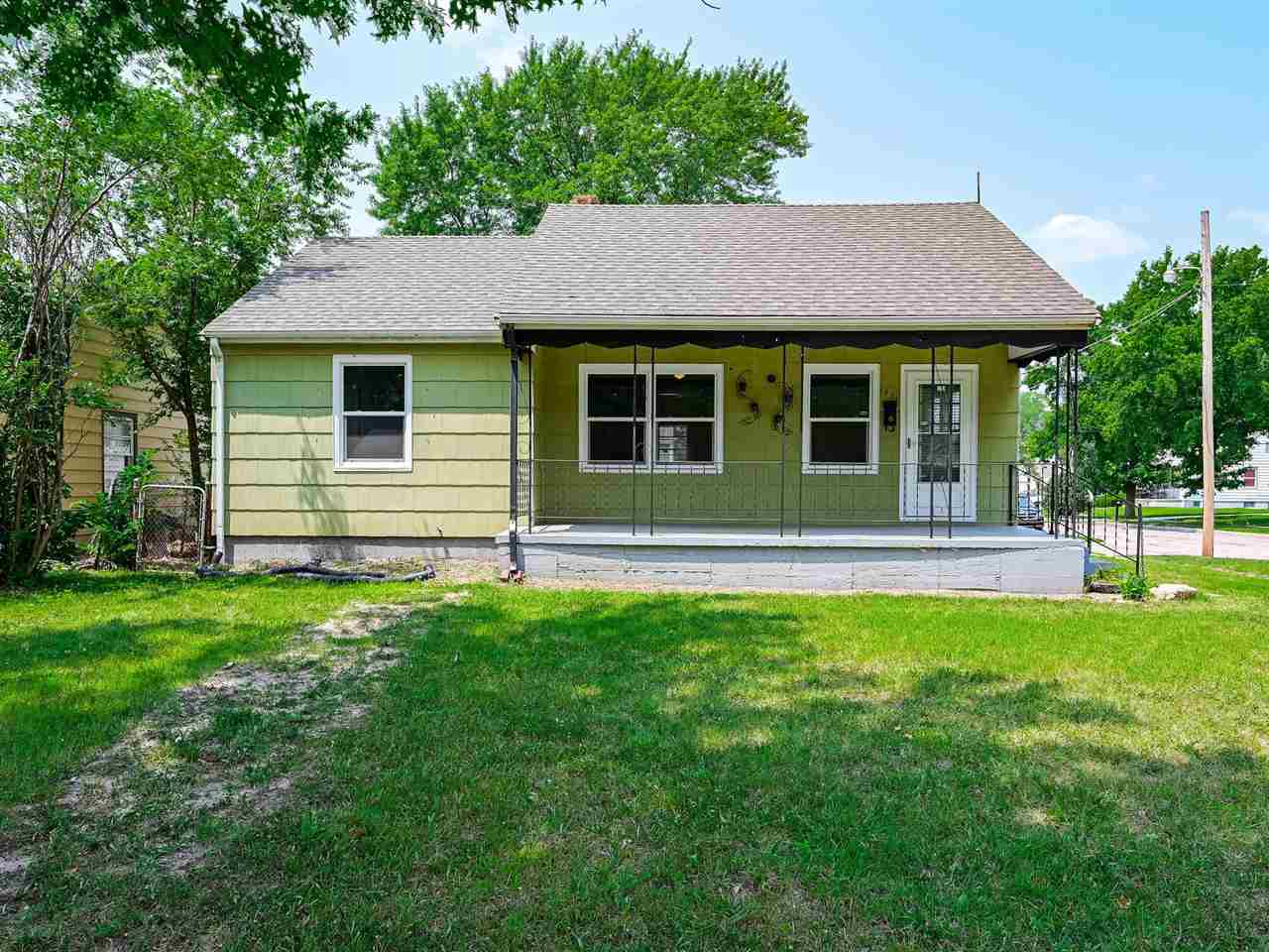 Welcome home to this cute 2 bed, 2 bath home with 3 car, detached garage. The main floor has been ni