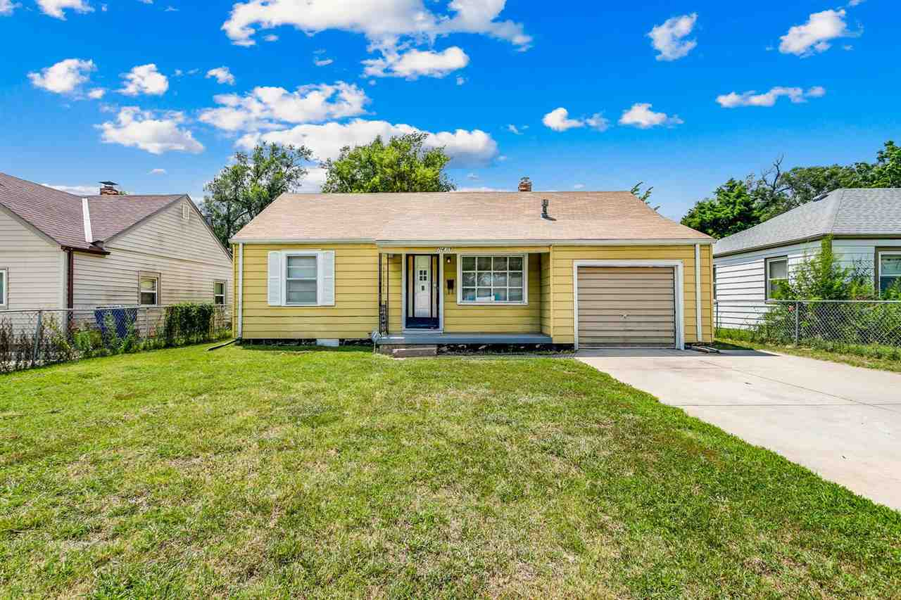 Great investment opportunity or chance to purchase an updated home in NE Wichita!   3 bedroom, 1 bat