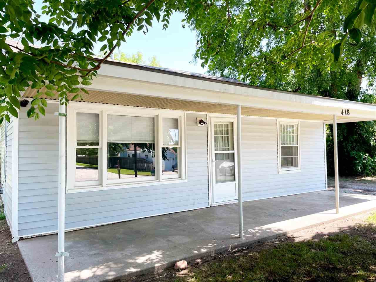 Over 1,000 sq feet with 3 bedrooms, 2 full baths and all kitchen appliances remain.  Don't miss the