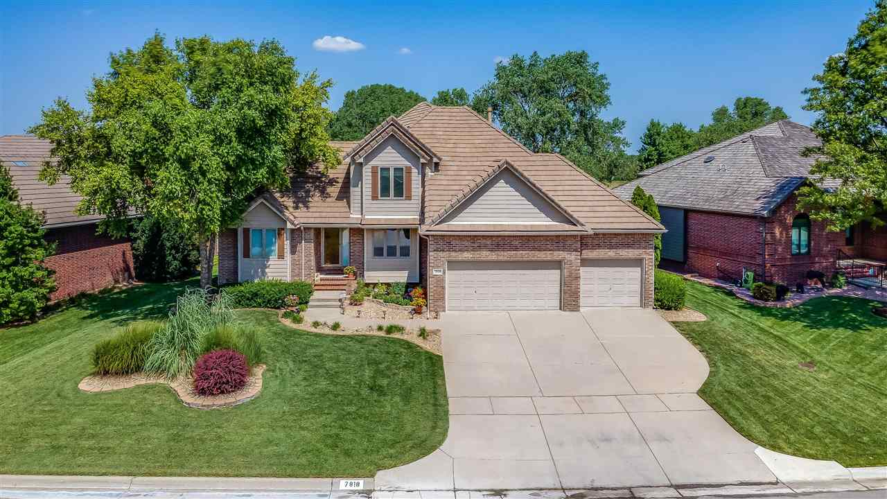 This meticulously maintained, custom built, one-owner full brick home overlooks the 11th green of Wi