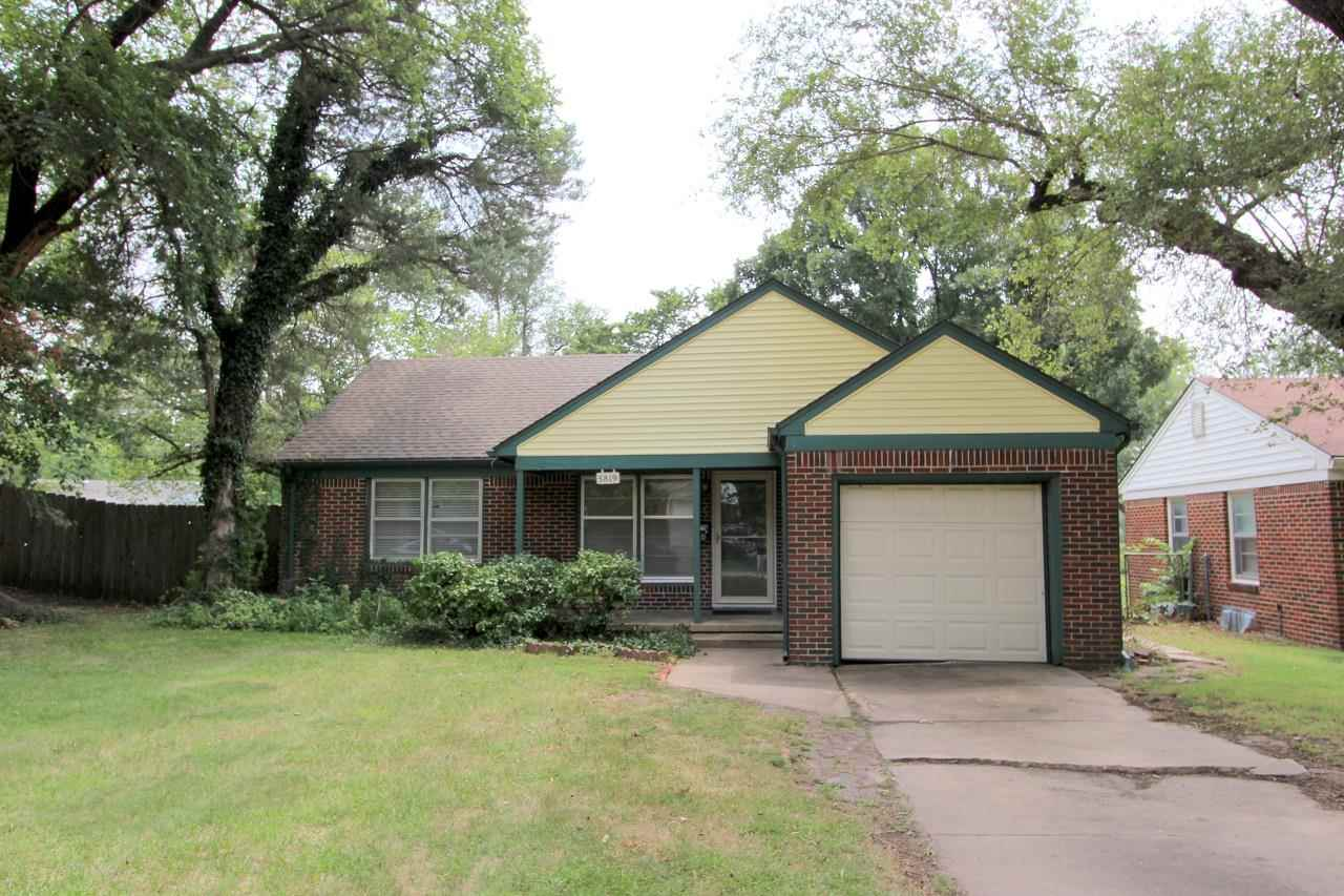 This charming, all-brick, ranch-style home has 2 bedrooms, 1 bathroom, and a 1 car attached garage.