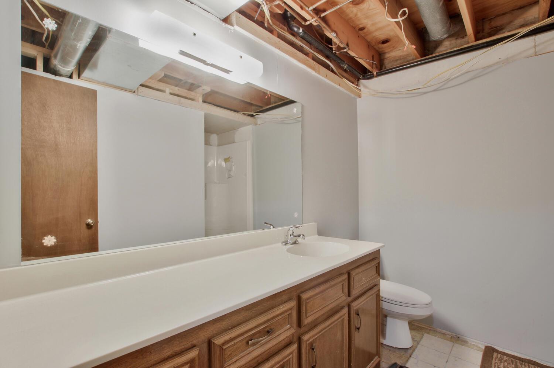 Shower in basement bath.