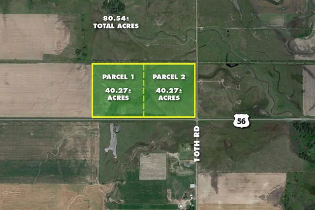 For Sale: 40.2+/- Acres  HWY 56 & 10th Rd., Lyons KS