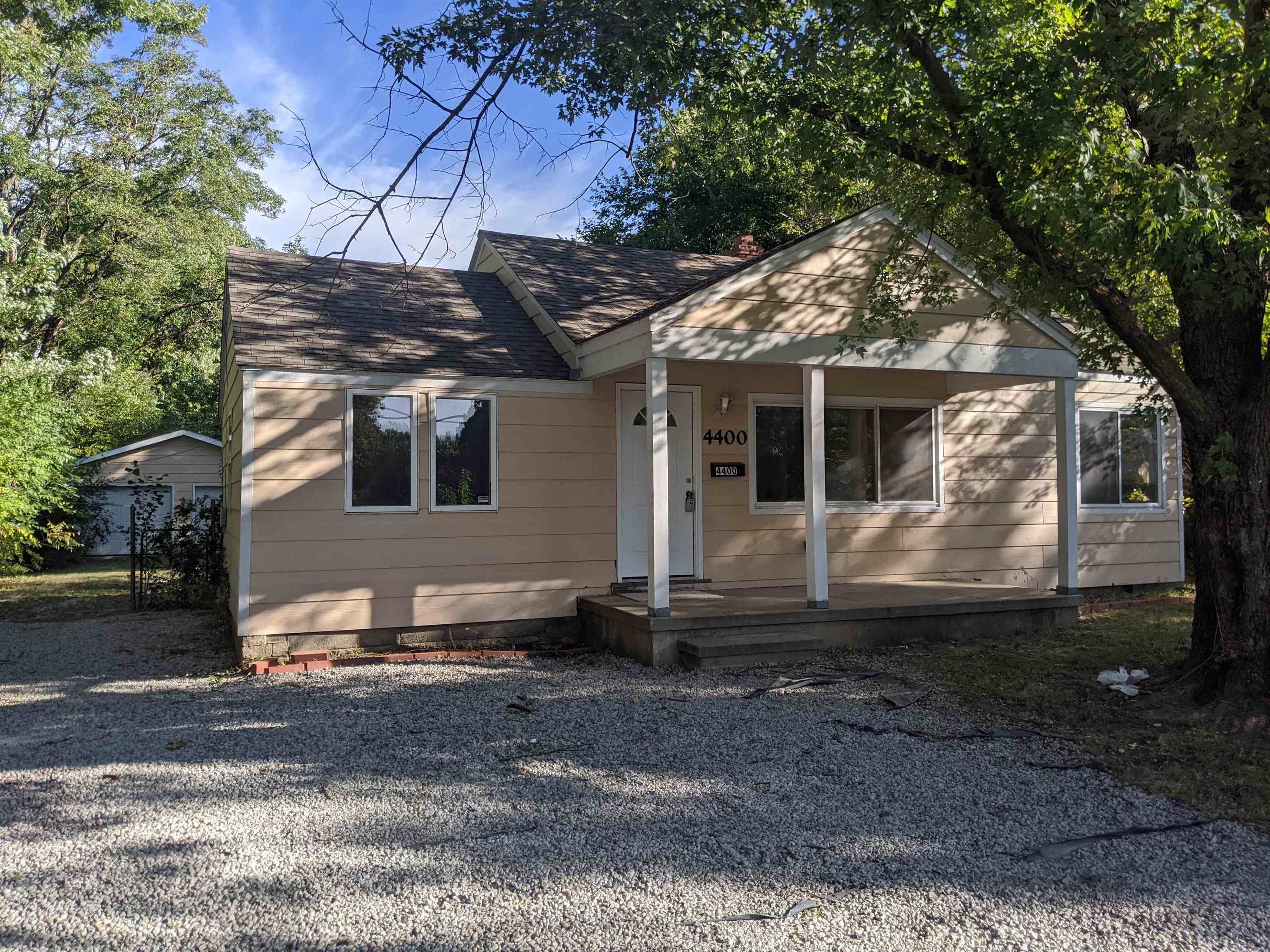 This 3 bedroom, 1 bath has been updated and has a s pacious 2-car detached and a gravel driveway.  U