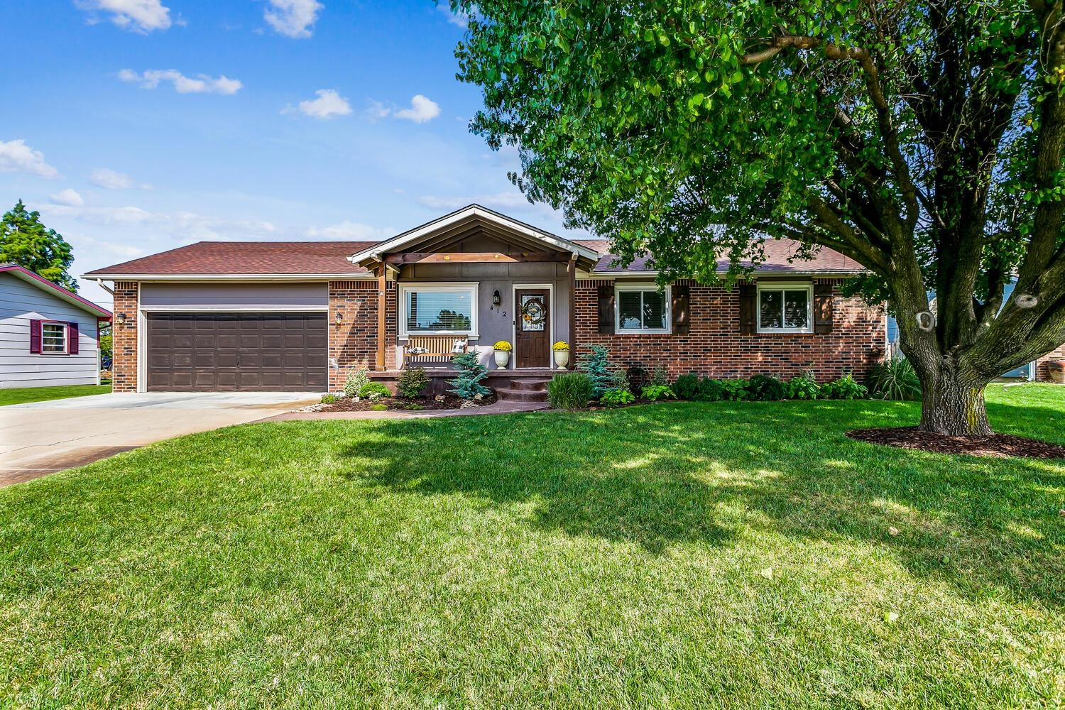 Adorable, updated home located on a cul-de-sac in Maize.  You will fall in love with the open floorp