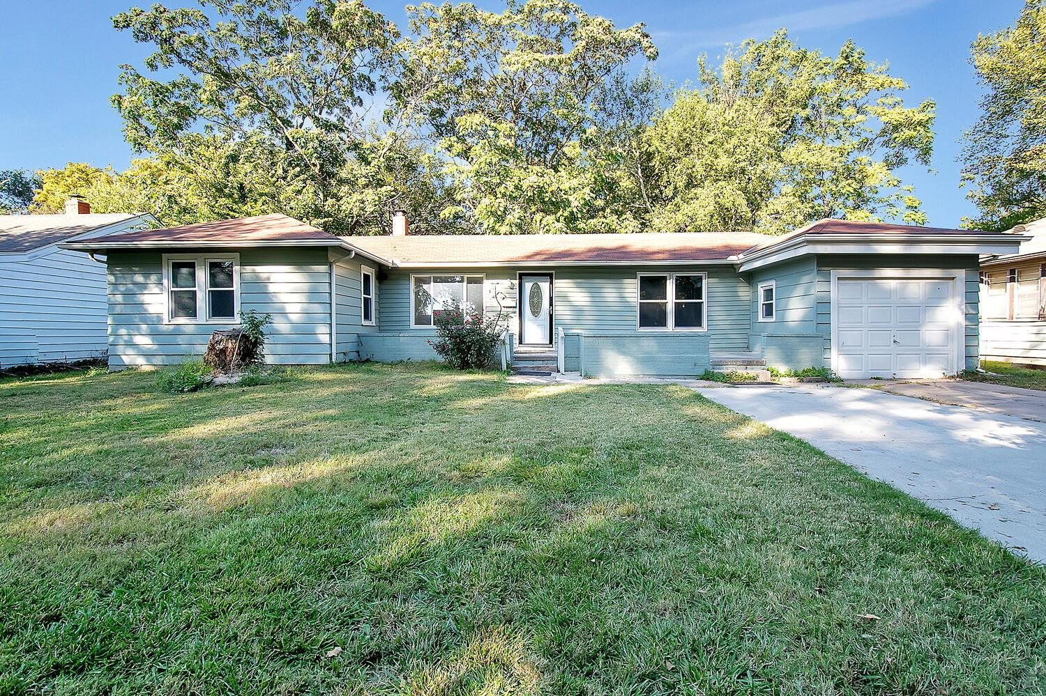 Charming Four bedroom, two bath updated and clean home in a quiet neighborhood. Large fenced back yard with a storage shed and lots of shade.  Home is being sold as-is, the seller never lived in the home.  All appliances in the home stay with the home!