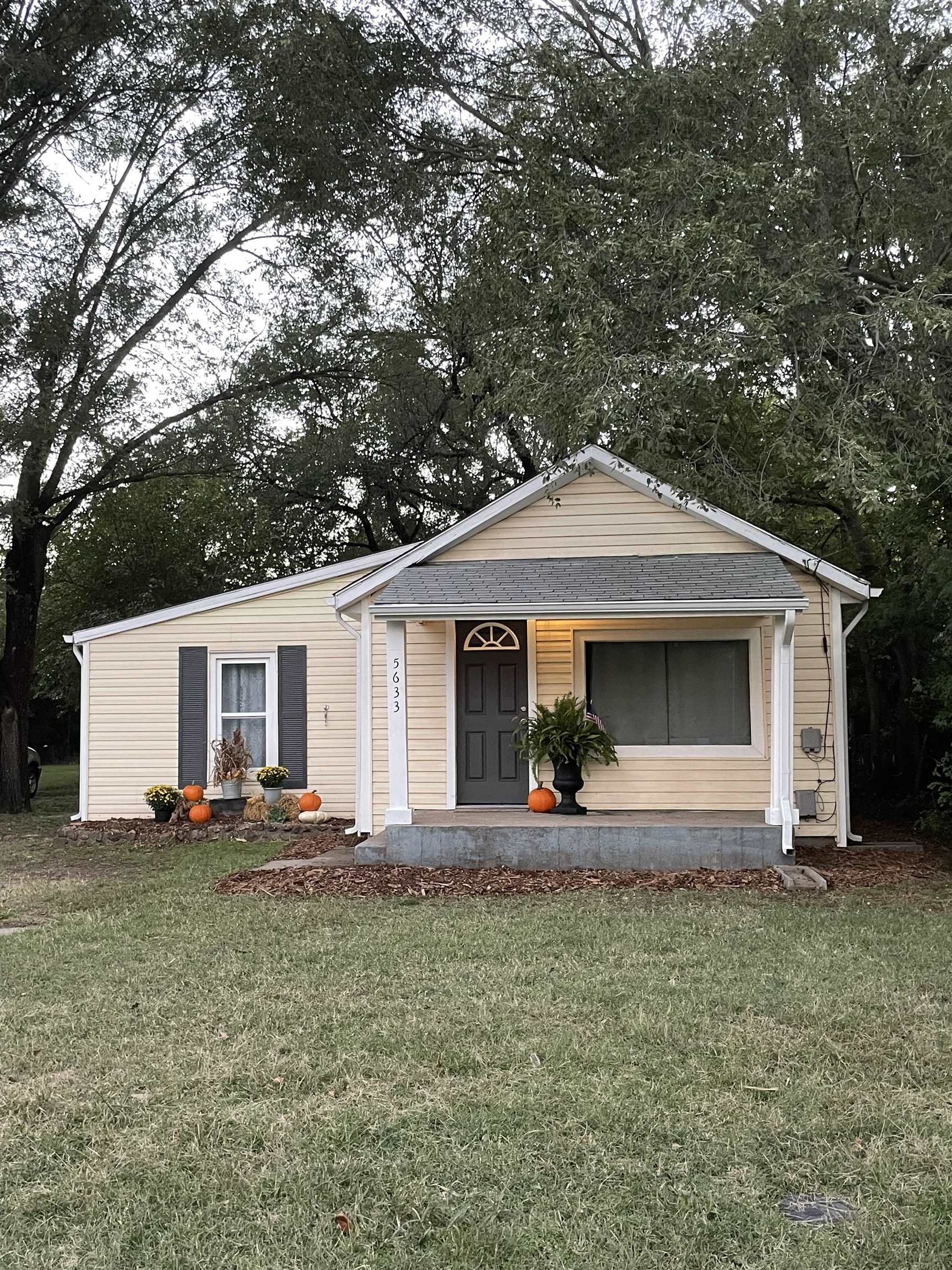 Newly remodeled 4 bedroom/1 bath home on just under a half acre wooded lot.  This quaint home has fr