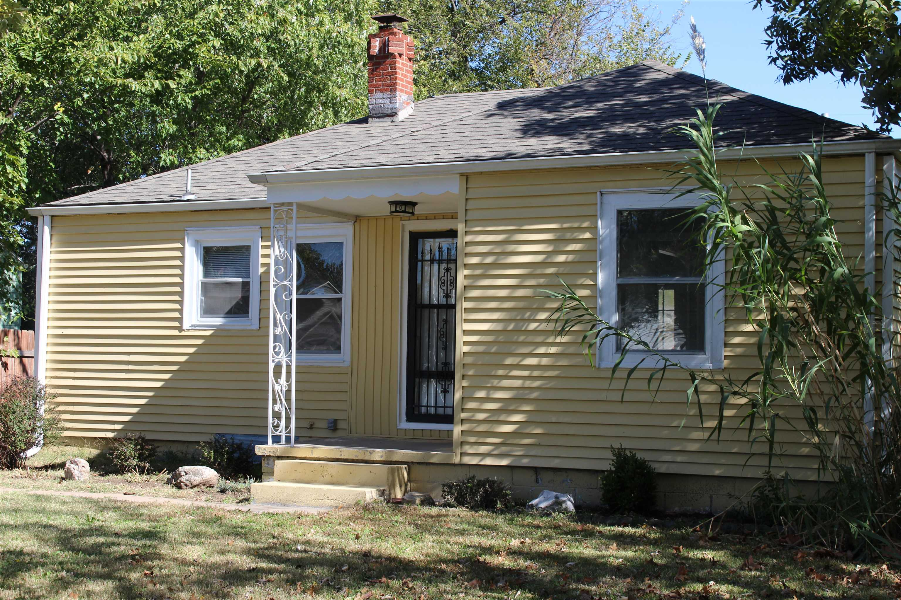 Check out this updated 2 bedroom, 1 bath, and 2 detached car garage. This home has been updated with