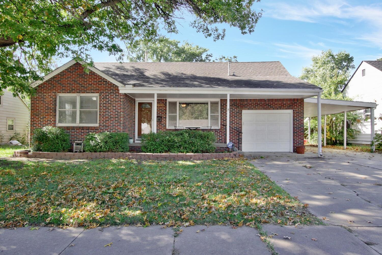 Beautiful 1.5 Story Home with 3BR, 1.5 BA, 1 car attached garage plus Carport, updated kitchen, hard